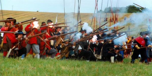 musketeers firing