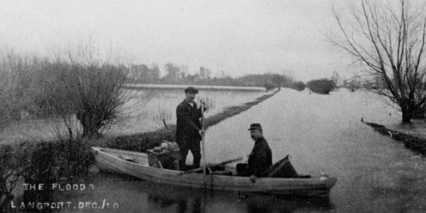 boat in floods